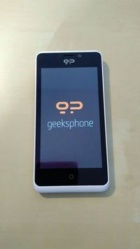 Geeksphone Peak boot screen