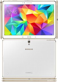 "A picture of a white Samsung Galaxy Tab S 10.5"" LTE."