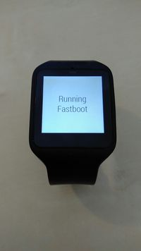 SmartWatch 3 in fastboot mode